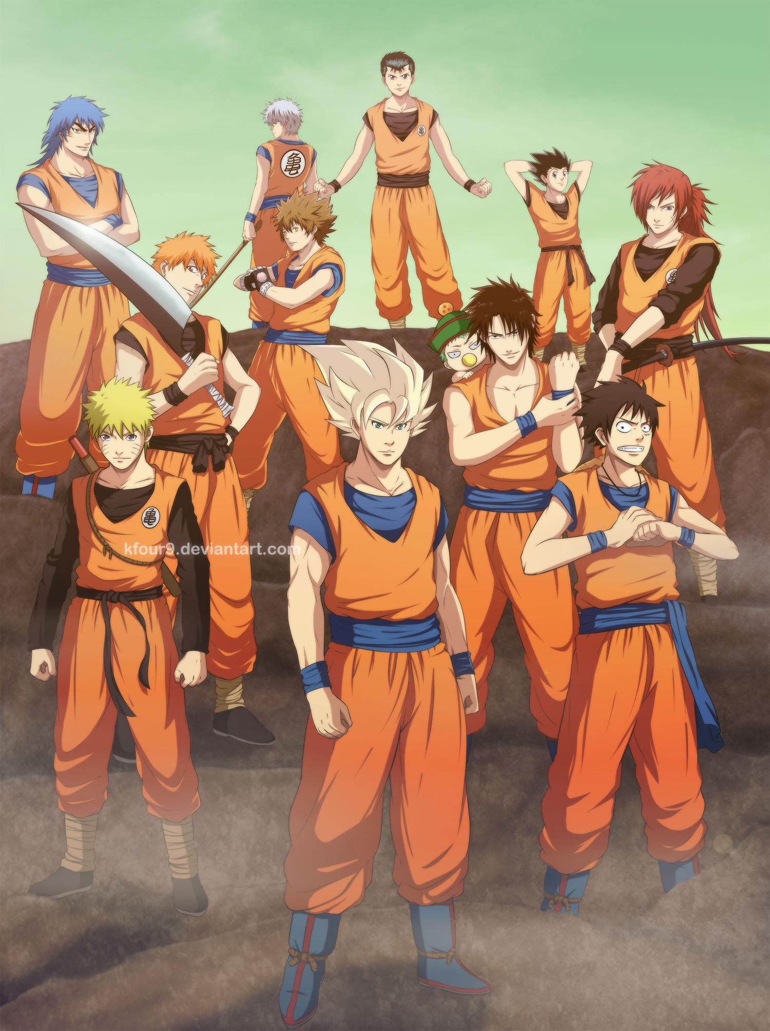 Naruto bleach reborn - Dbz et one piece ...