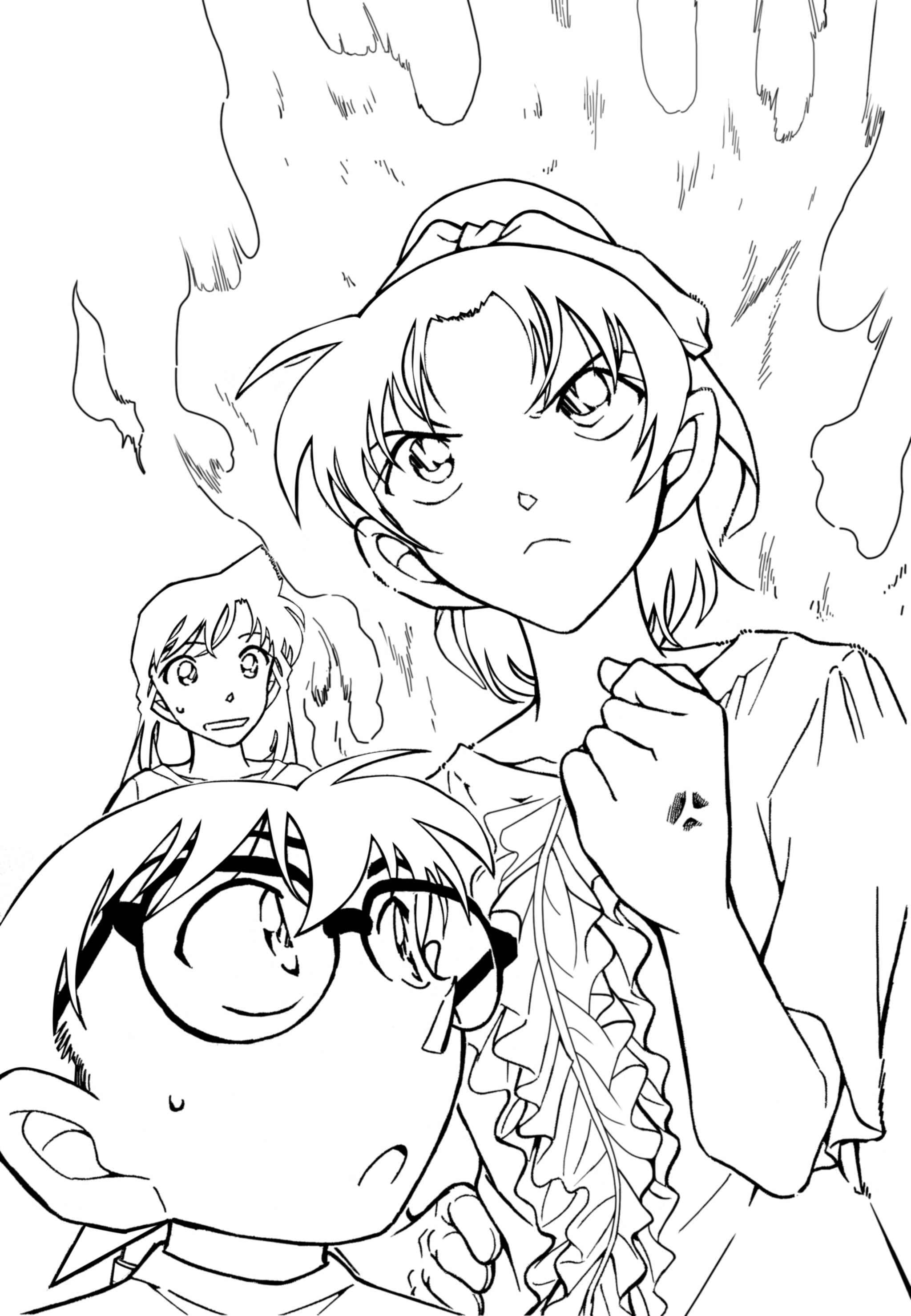 for Detective conan coloring pages