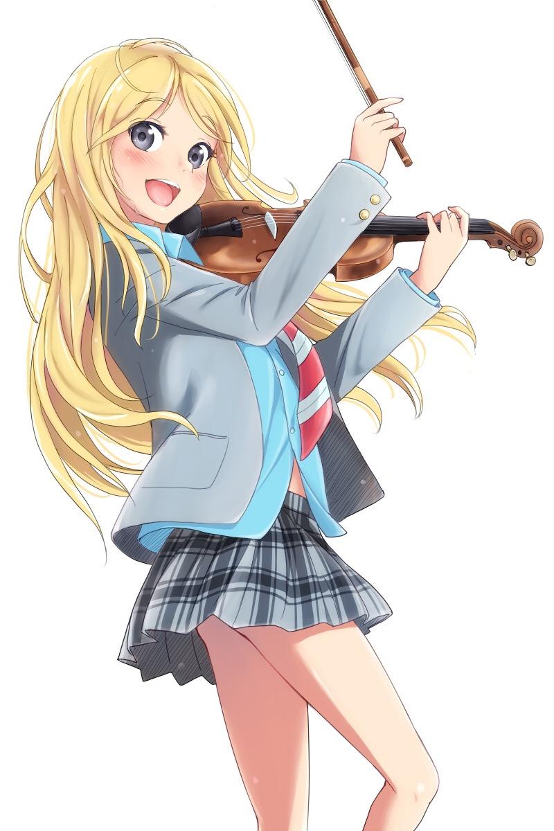 四月は君の嘘の楽しそうにバイオリンを弾く宮園かおり
