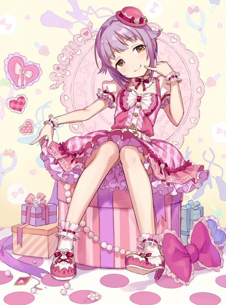 輿水幸子 ピンクドレス