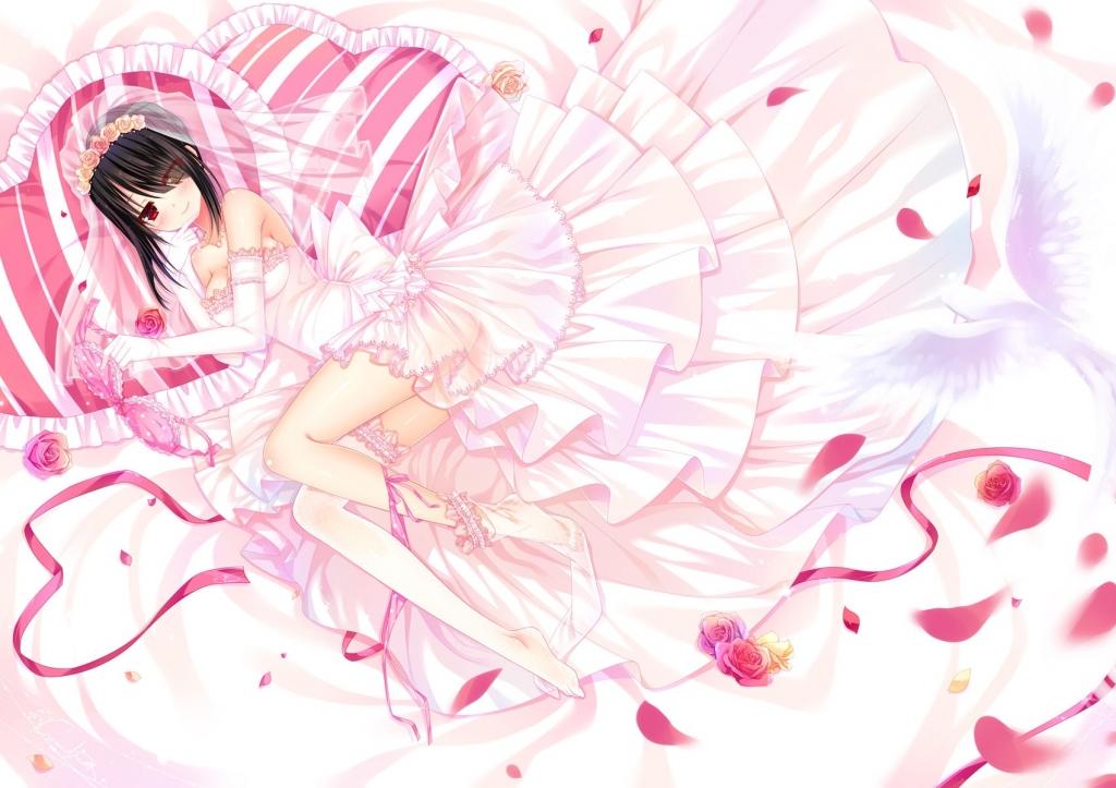 時崎 狂三 白いウエディングドレス
