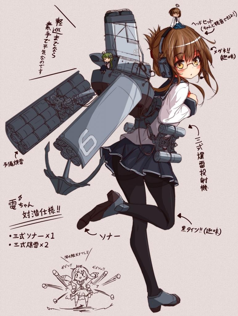 艦隊これくしょん 艦これ 電 壁紙 Tsundora Com
