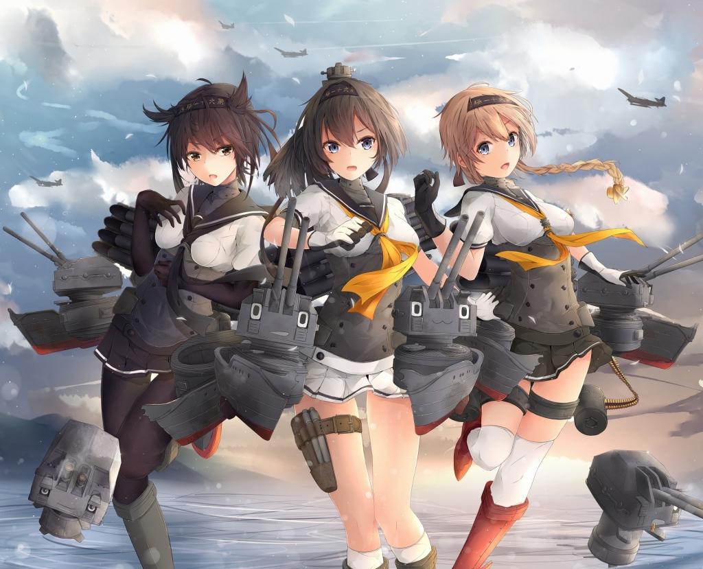 艦隊これくしょん 艦これ 秋月 初月 照月 壁紙 Tsundora Com
