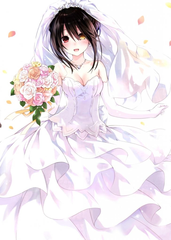 時崎 狂三 白いウェディングドレス