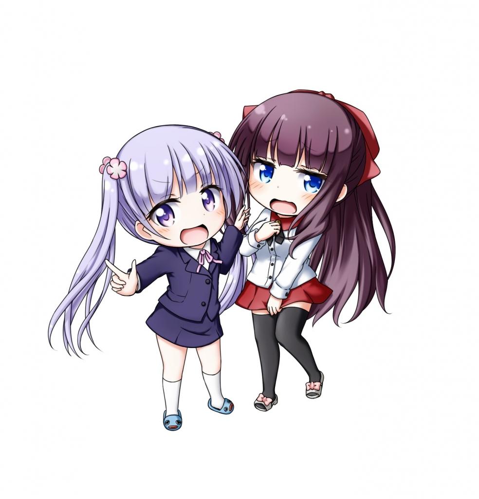 New Game 涼風青葉 滝本ひふみ Kuena 壁紙 Tsundora Com